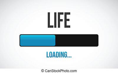 barra, vida, carga, diseño, ilustración