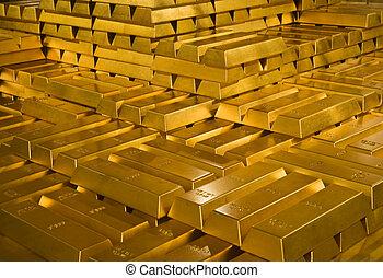 barras del oro