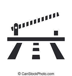 barrera, aislado, ilustración, solo, vector, icono