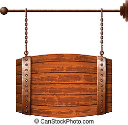 barril de madera, signboard, formado