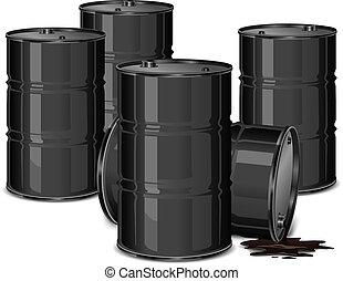 Barriles con aceite