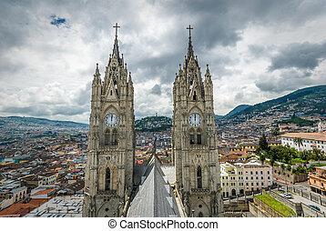 basílica, quito, nacional, voto, del, ecuador