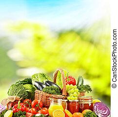 basado, vegetales, dieta, crudo, equilibrado, orgánico