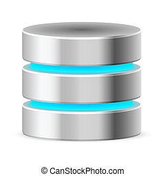 base, datos, icono