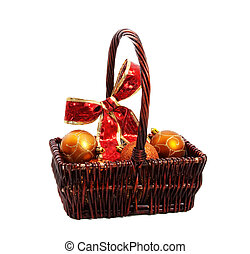 Basket de adornos navideños