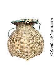 Basketry en un fondo blanco