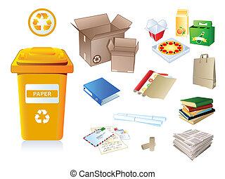 Basura de papel y basura