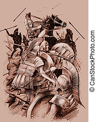 batalla, antiguo