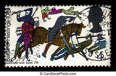 Batalla de las molestias del tapiz Bayeux