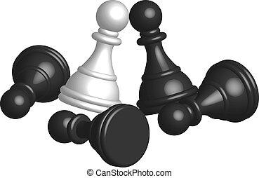 Batalla: ilustración del vector