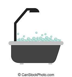 Bathtub con burbujas