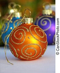 Bauble de Navidad naranja