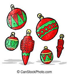 Baubles de Navidad de Cartoon