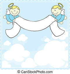 bautismo, tarjeta de felicitación