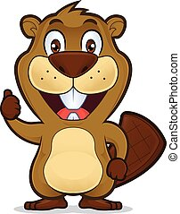 Beaver dando pulgares arriba