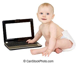 bebé, computador portatil