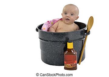 Bebé en cacerola