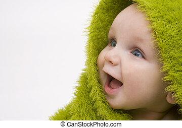 Bebé en verde