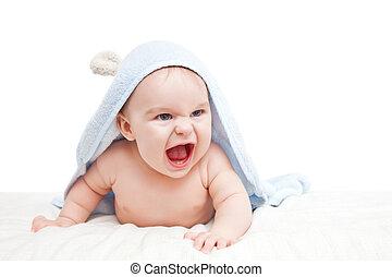 Bebé enojado