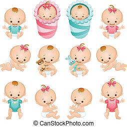 bebé, iconos