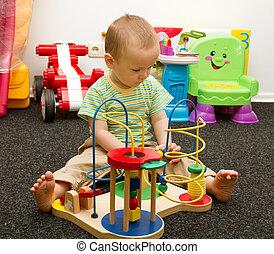 bebé, juego, juguetes
