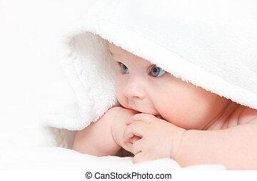 bebé, lindo, niña