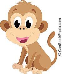 bebé mono, ilustración