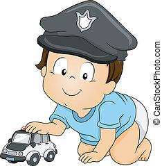 bebé, policía