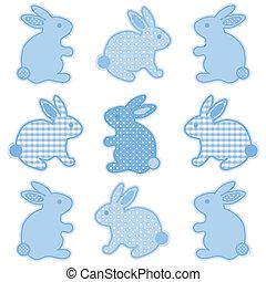 Bebés conejitos, polka dots