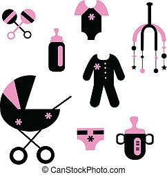 Bebés de juguetes y ropa