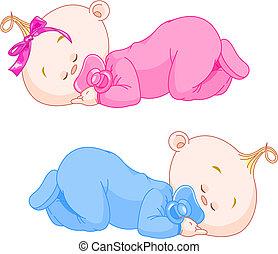 Bebés dormidos