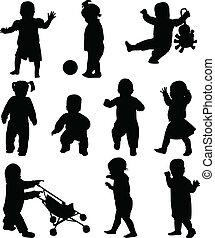 Bebés siluetas