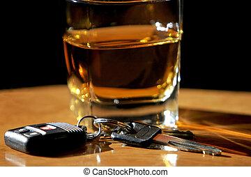 bebida, conducción, y