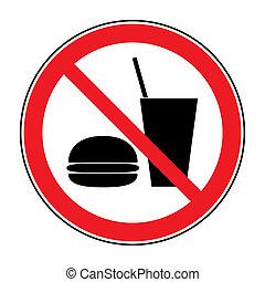 bebida, ningún alimento