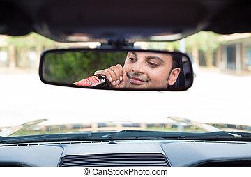 bebida, reflejar, conducción
