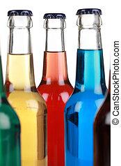 Bebidas coloridas con soda