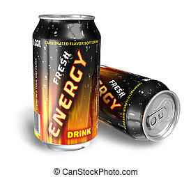 Bebidas energéticas en latas de metal