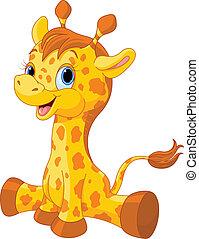 becerro del giraffe, lindo