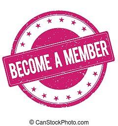 become-a-member, magenta, señal, estampilla, rosa