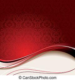 Beige y antecedentes rojos