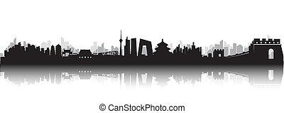 beijing, contorno, ciudad