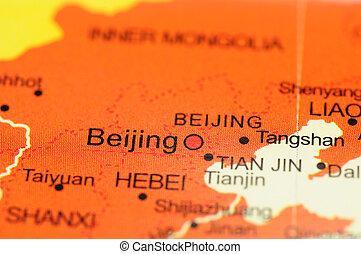 beijing, mapa
