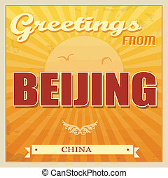 Beijing, póster de porcelana
