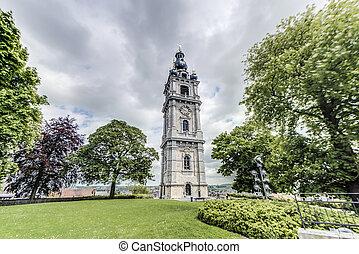 belgium., campanario, mons