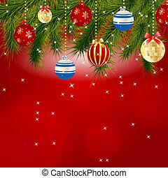 belleza, resumen, ilustración, fondo., vector, año, nuevo, navidad