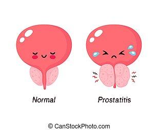 benigno, prostatic, normal, hyperplasia, próstata