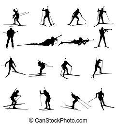 Biathlon silueta puesta