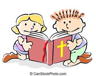 biblia, niños