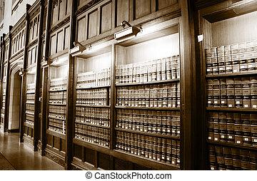 Biblioteca de libros de leyes