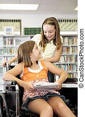 Biblioteca escolar - amistad